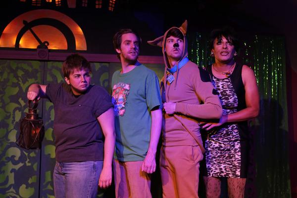 Caitlin Boho, Josh Kemper, Christopher Wilson and David Cerda as Kris Jenner Photo