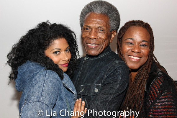 Andre De Shields with MARIE AND ROSETTA stars Rebecca Naomi Jones and Kecia Lewis
