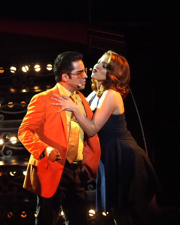 John Lloyd Young and Olivia Harris
