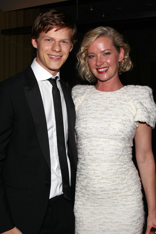 Lucas Hedges and Gretchen Mol