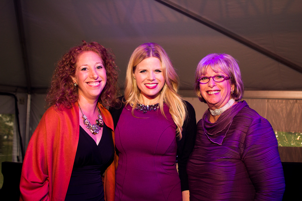 Hope Horwitz, Broadway and TV star and special guest Megan Hilty, and Sharla Feldsche Photo
