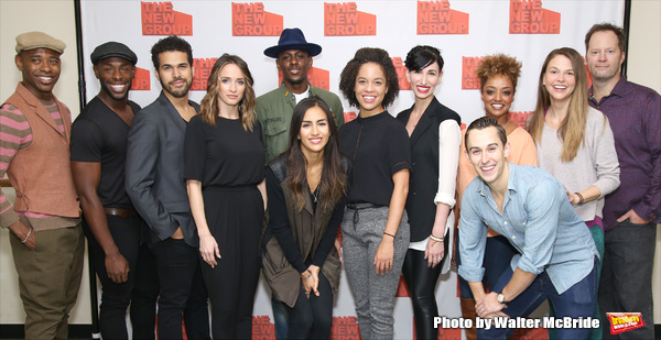 Joel Perez, Emily Padgett, Joshua Bergasse, Asmeret Ghebremichael, Georgia Stitt, Cody Williams, Sutton Foster, Shuler Hensley with the cast