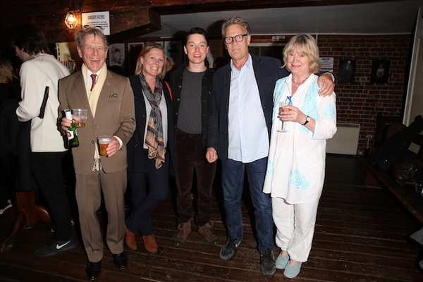 Freddie Fox, Edward Fox and Joanna David Photo