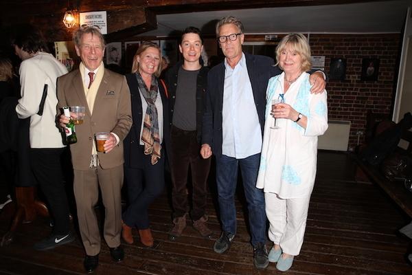 Freddie Fox, Edward Fox and Joanna David
