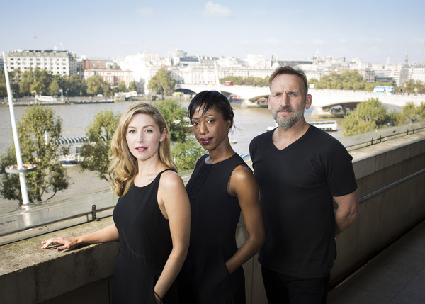 Emma Hamilton, Nikki Amuka-Bird and Christopher Eccleston