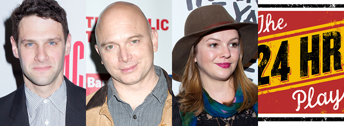 Justin Bartha, Michael Cerveris, Amber Tamblyn and More Slated for THE 24 HOUR PLAYS on Broadway