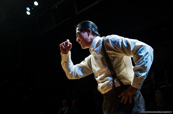 "Ryun Yu as Gordon Hirabayashi in ""Hold These Truths"" at The Armory. Photo"