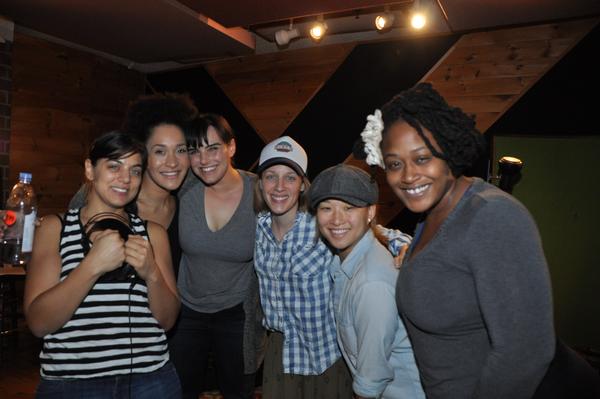Nadia DiGialonardo, Olivia Phillip, Molly Hager, Jessie Mueller, Jenna Usknowitz and Charity Angel Dawson