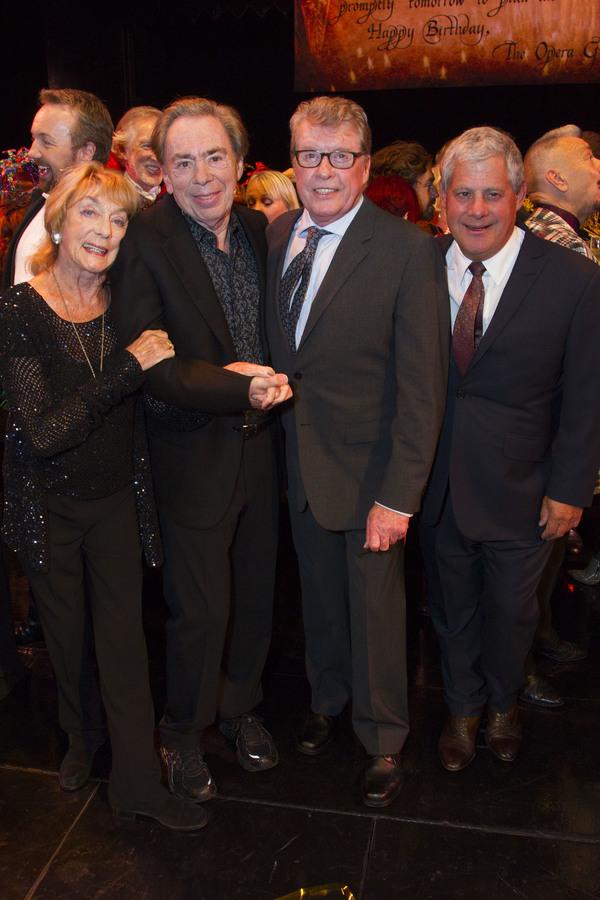 Gillian Lynne, Andrew Lloyd Webber, Michael Crawford and Cameron Mackintosh