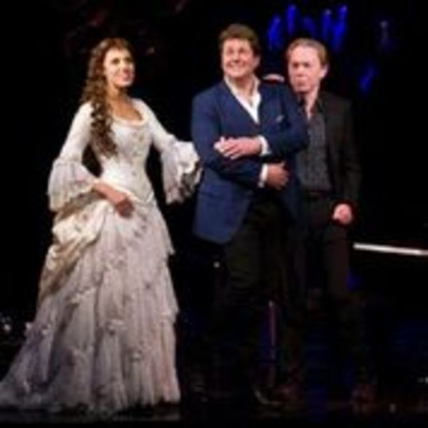 Celinde Schoenmaker, Michael Ball and Andrew Lloyd Webber  Photo