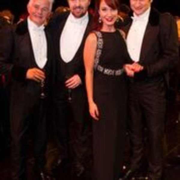 Scott David, John Owen Jones, Sierra Boggess and Gardar Thor Cortes
