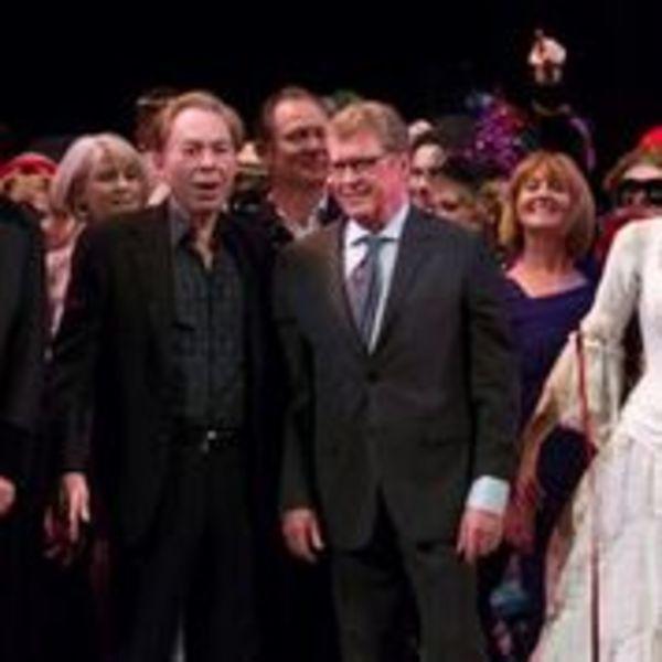 Ben Forster, Andrew Lloyd Webber, Michael Crawford and Celinde Schoenmaker