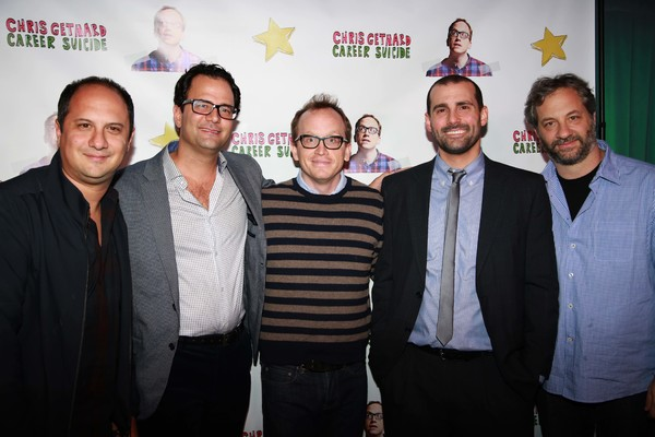 Mike Berkowitz, Brian Stern, Chris Gethard, Mike Lavoie and Judd Apatow Photo