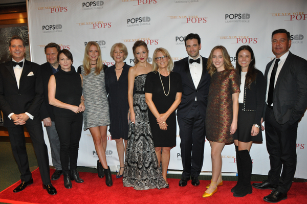 Steven Reineke, Laura Osnes, Colin Donnell, Nathan Gunn and members of the families of Frederick Loewe and Alan Jay Lerner