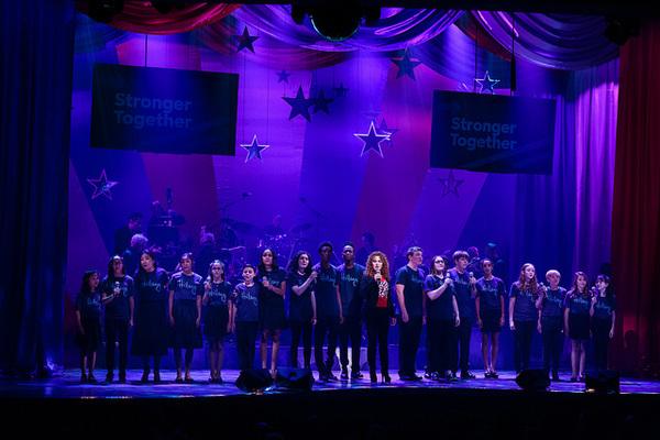 Bernadette Peters and childrens chorus