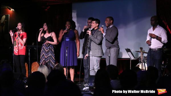 Margo Siebert with Telly Leung, Laurel Harris, Aurelia Williams, Arbender Robinson, Adam Bashian and Chesney Snow