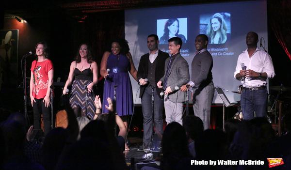 Margo Siebert with Telly Leung, Laurel Harris, Aurelia Williams, Arbender Robinson, Adam Bashian and Chesney Snow