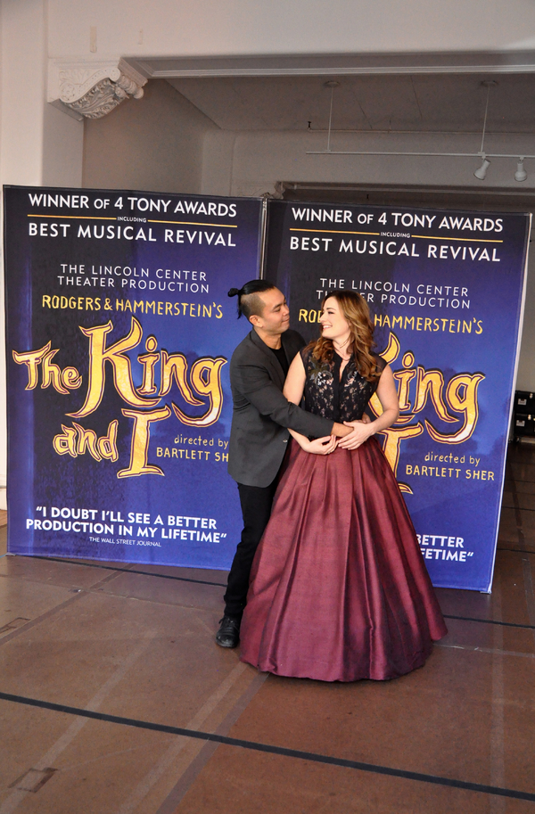 Jose Llana and  Laura Michelle Kelly