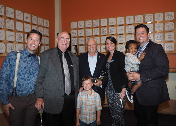 Daniel Dawson, Jim Dawson, Jude Dawson, Mayor George Ray, Gretchen Dawson, Isaac Dawson, and T.J. Dawson