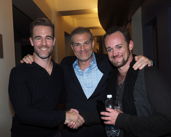 James Van Der Beek, Director Marc Kudisch, and Dennis Kyle Photo