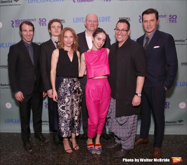 Alex Hunt, Ben Rosenfield, Amy Ryan, playwright Mike Bartlett, Zoe Kazan, director Mi Photo