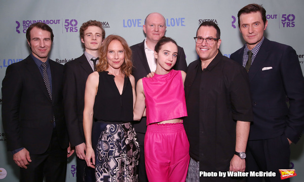 Alex Hunt, Ben Rosenfield, Amy Ryan, playwright Mike Bartlett, Zoe Kazan,  Michael Mayer and Richard Armitage