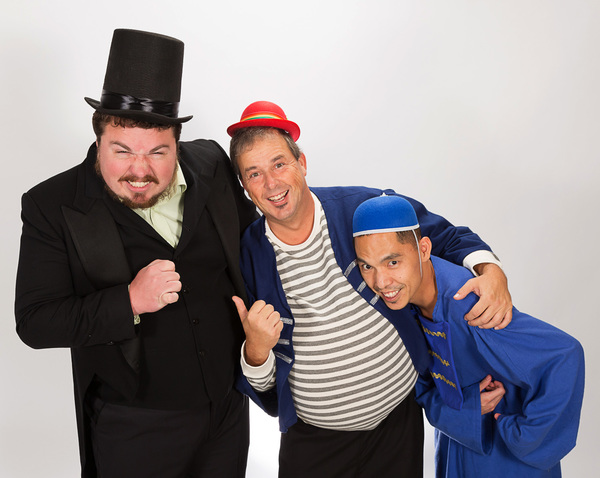 "M&M Stage Productions starts off the holiday season at MCCC's Kelsey Theatre with �""Babes In Toyland"" Nov. 18 to 27.  From left are John Zimmerman as the evil Barnaby and his henchmen, Ron SanGiovanni as Gonzorgo and Dan Mucha as Roderigo. Photo by R"