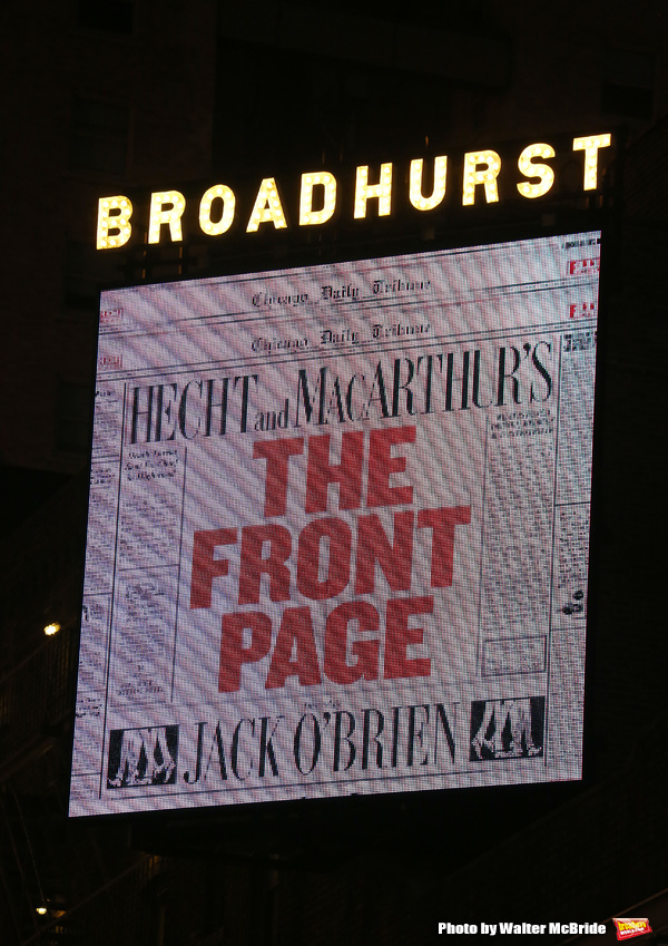 The Front Page Production Photo