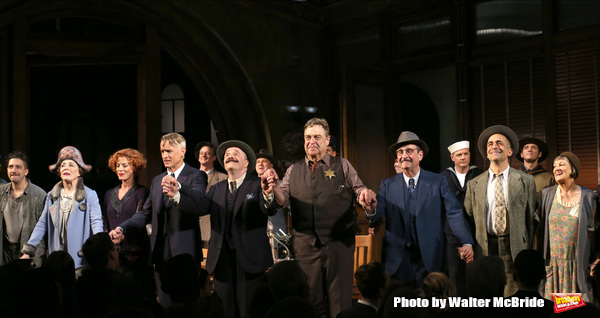 John Magaro, Holland Taylor, Sherie Rene Scott, John Slattery, Nathan Lane, John Goodman, David Pittu, Patricia Conolly with cast