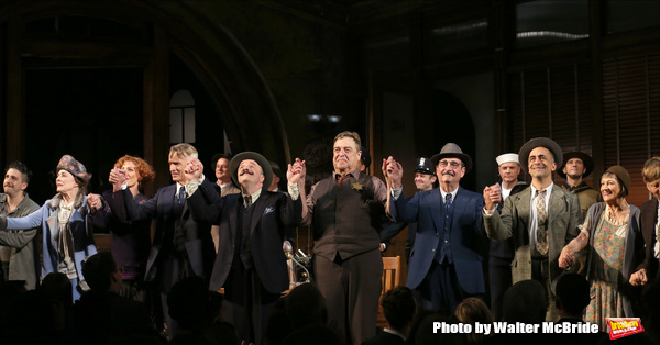 John Magaro, Holland Taylor, Sherie Rene Scott, John Slattery, Nathan Lane, John Goodman, David Pittu, Patricia Conolly, Robert Morse with cast