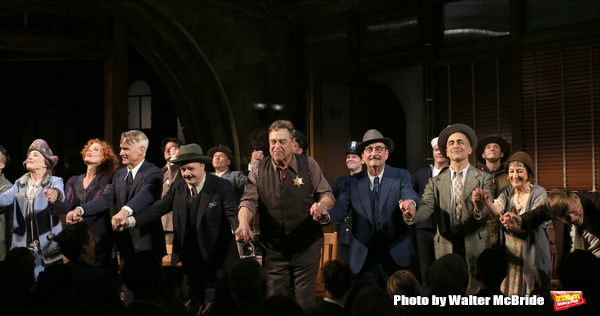 Holland Taylor, Sherie Rene Scott, John Slattery, Nathan Lane, John Goodman, David Pittu, Patricia Conolly, Robert Morse with cast