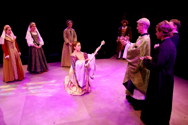 Katherine of Aragon (Kara Greenberg), Lady Worcester (Julie Fontenot), Jane Seymour (Leslie Lenert), Anne Boleyn (Lisa Villegas), King Henry VIII (Blake Weir), Thomas Cranmer (Jerry Miller), Ensemble (Sean Miller and Will Ledesma)
