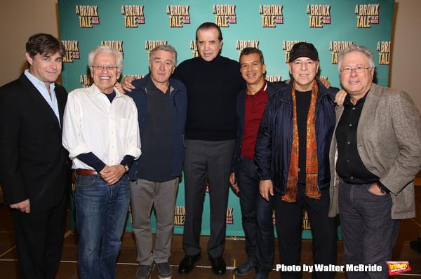 Glenn Slater, Jerry Zaks, Robert De Niro, Chazz Palminteri, Sergio Trujillo, Tommy Mottola and Alan Menken