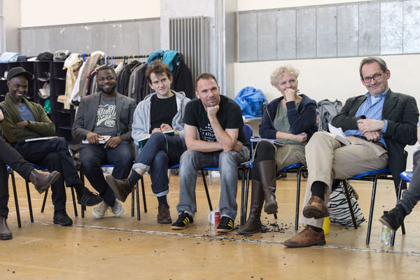 Fiston Barek, Fehinti Balogun, Harry Melling, Mark Rose, Joanne Howarth and Jonathan Coote