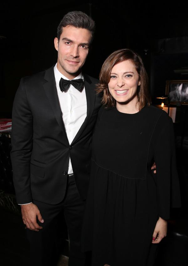 Peter Porte and Rachel Bloom