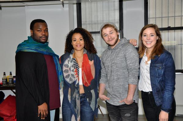 Juwan Crawley, Alysha Deslorieux, F. Michael Haynie and Erike Henningsen Photo