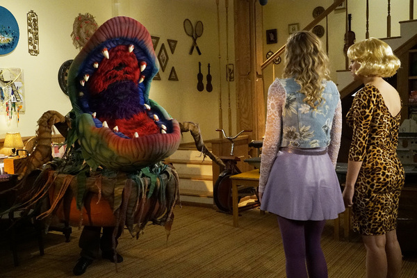 "THE GOLDBERGS - ""Stefan King"" - Adam's love of Stephen King inspires him to try his hand at horror writing. After learning the monster in Adam's story is based off Beverly, she forces Adam to stay in on Halloween and rewrite it, hoping he depicts her as a"