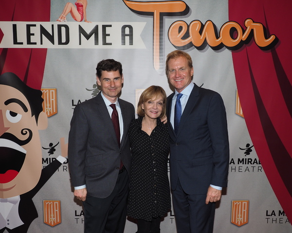 B.T. McNicholl with Executive Producers Cathy Rigby and Tom McCoy