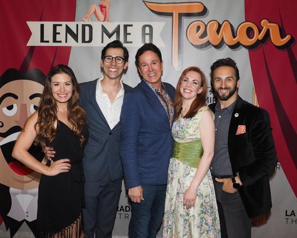 Cassandra Murphy, John Shartzer, Davis Gaines, Kelley Dorney, and Justin Michael Wilc Photo