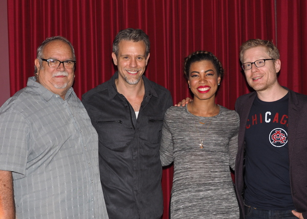 Ronn Goswick, Adam Pascal, India Carney, and Anthony Rapp