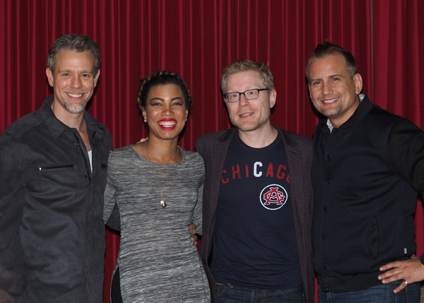 Adam Pascal, India Carney, and Anthony Rapp with Executive Producer/Owner Chris Isaac Photo