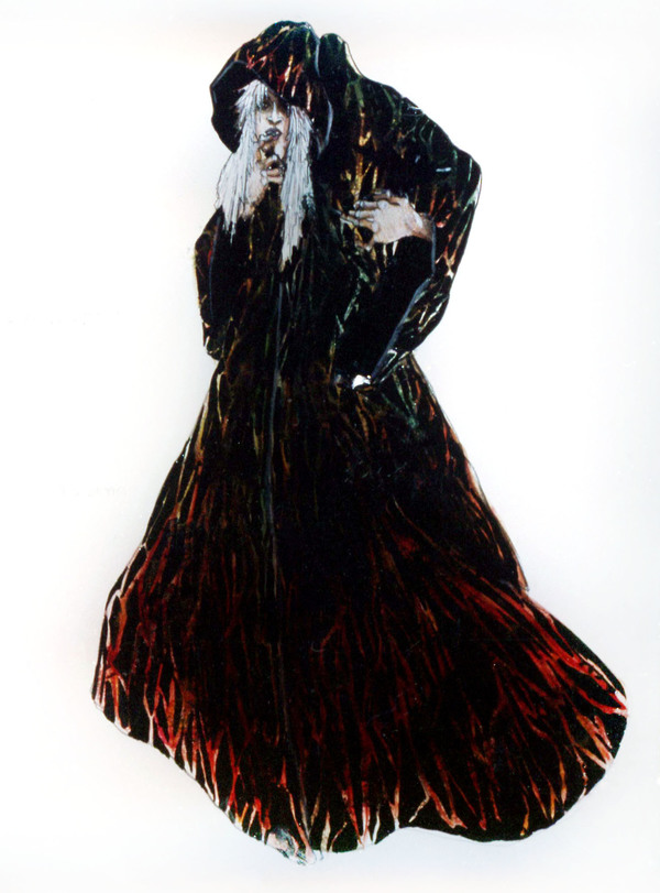 Ugly witch cape version by Costume Designer Ann Hould-Ward for the Original Broadway Production of INTO THE WOODS