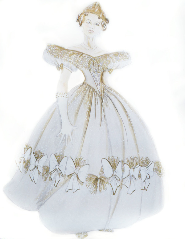 Cinderella at ball - Costume Designer Ann Hould-Ward - Original Broadway Production of INTO THE WOODS
