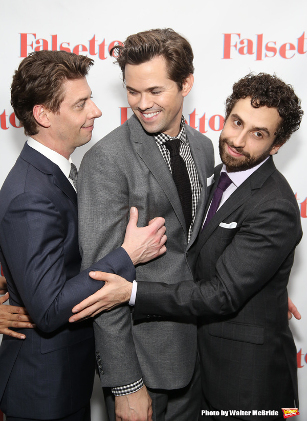 Christian Borle, Andrew Rannells and Brandon Uranowitz