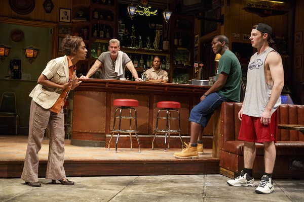 The company of SWEAT at The Public Theater. Photo Credit: Joan Marcus