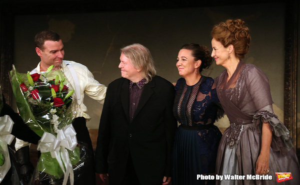 Liev Schreiber, Christopher Hampton, Josie Rourke and Janet McTeer