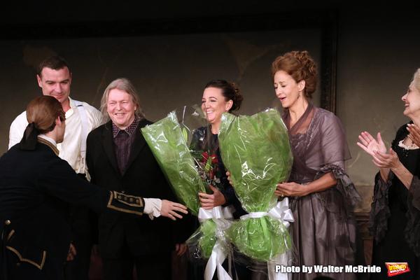 Liev Schreiber, Christopher Hampton, Josie Rourke, Janet McTeer and Mary Beth Peil