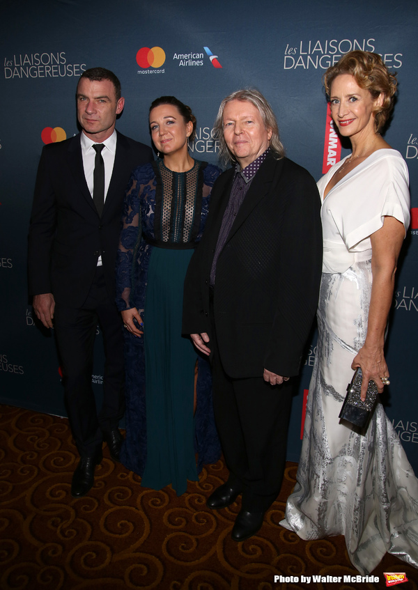 Liev Schreiber, Josie Rourke, Christopher Hampton and Janet McTeer