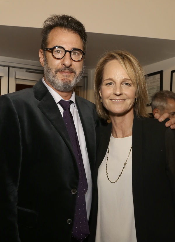 Jon Robin Baitz and Helen Hunt