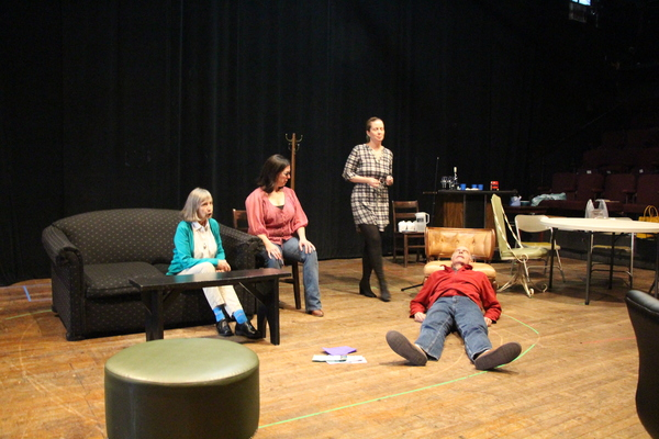 Emily Jon Mitchell, Patricia Randell, Martha Byrne, and Peter Levine